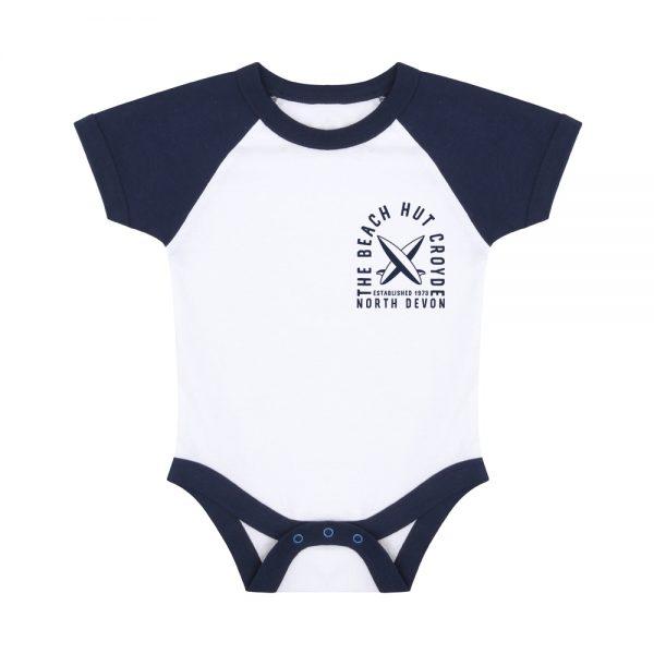 Baby baseball bodysuit Navy