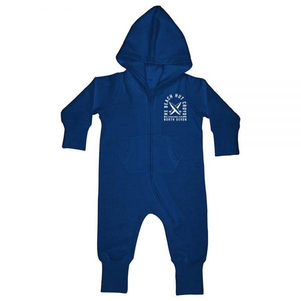 Baby and Toddler fleece onesie blue