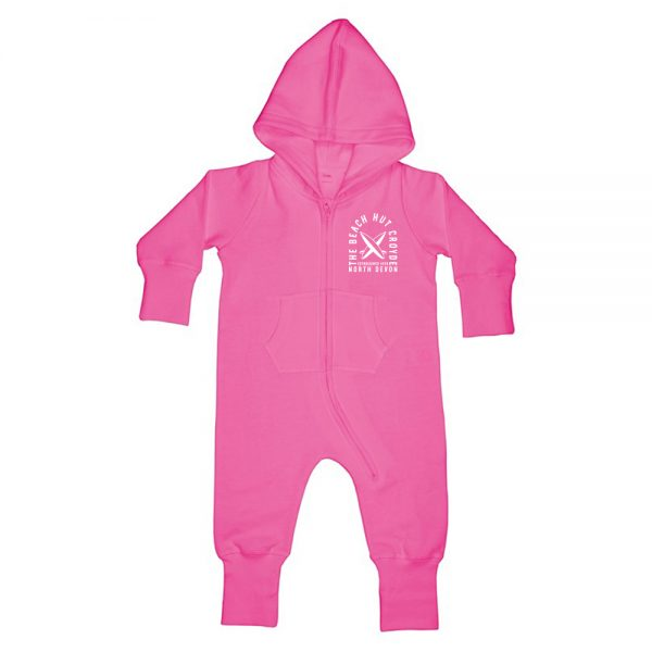 Baby and Toddler fleece onesie pink