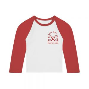 Baby long sleeve raglan t-shirt red
