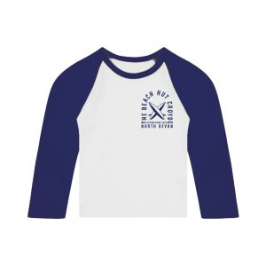 Baby long sleeve raglan t-shirt blue
