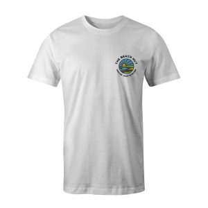 Kids Croyde View White tee front